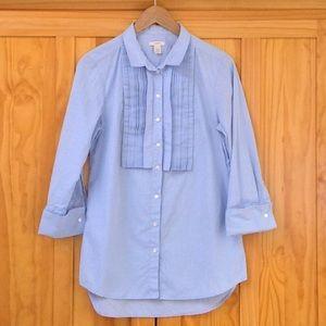 J. CREW Cotton Oxford Tuxedo Shirt